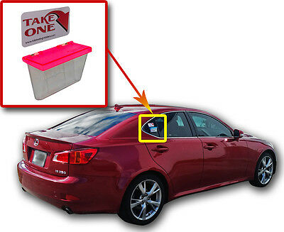 Neon Red Lid Outdoor Premium Quality Business Card Holder Vehicle Card Holder