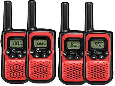 Oricom Pmr780 Handheld Uhf Two Way Compact Radio Walkie Quad Pack 80 Channel