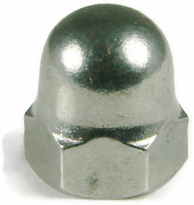 Stainless Steel Cap Acorn Hex Nuts UNC 3/8-16, Qty 25