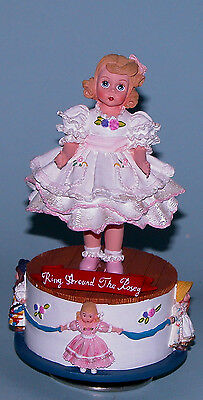 "Madame Alexander resin doll ""Ring Around the Rosy"" #90480 music box rotates"