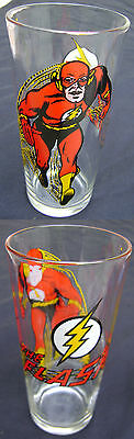 Flash Pepsi Collector Series Vintage Glass 1971 DC Comics Extremely Vibrant