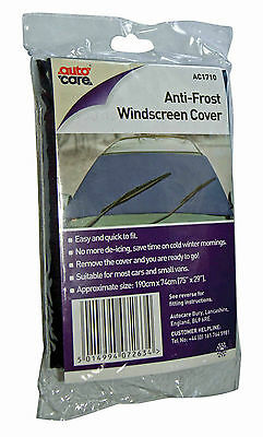 Autocare Windscreen Frost Cover Car Window Protector Exterior Sunshade