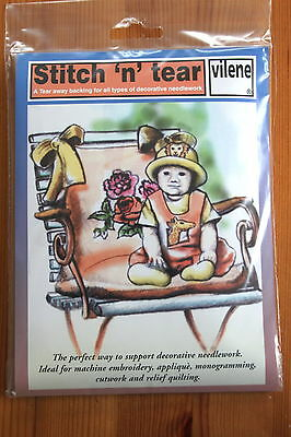 Stitch and Tear by Vilene 90 cm x 36 cm pack for embroidery n quilting