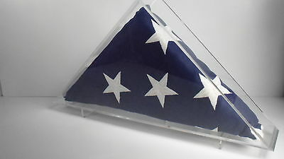 Burial casket flag clear acrylic display case veterans memorial    5' x 9.5'