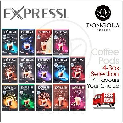 4 BOX (64) You Choose Expressi Kfee Automatic Coffee Machine Capsules Pods ALDI