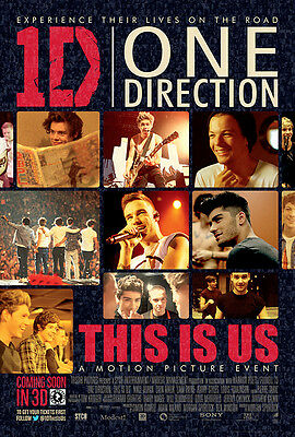 One Direction (1D) This Is Us - A3 Film Poster - FREE UK P&P