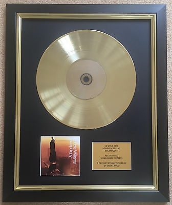 Robbie Williams / Ltd Edition CD Gold Disc / Record / Escapology