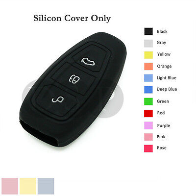 Silicone Cover Holder fit for FORD Fiesta Focus Mondeo Smart Remote Key Case BK