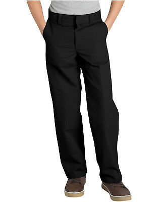 Dickies Back to School Uniform Flat Front Silver Grey Pants Size 4-20 NWT