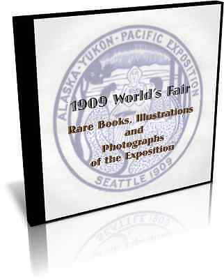 1909 Worlds Fair-Alaska Yukon Pacific Exposition Seattle, Books, Illus., on CD