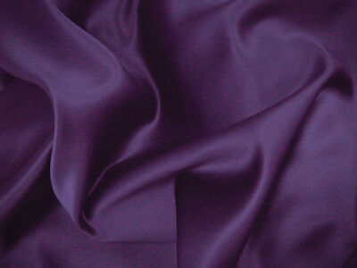 Purple Duchess Satin Bridal Wedding Dress Fabric150cm Wide @ £7.99 per mtr.