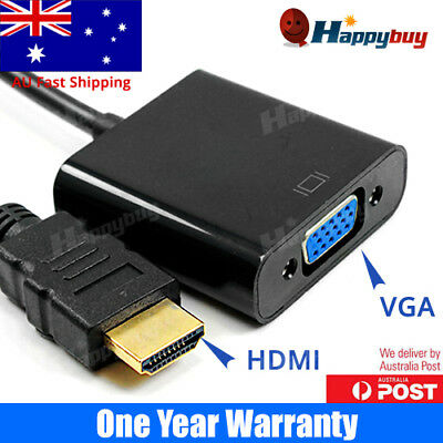 HDMI Male to VGA Female Video Adapter Cable Converter 1080P Chipset Built-in