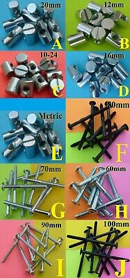 CROSS DOWELS (4 SIZES TO CHOOSE FROM)... PURCHASE IN MULTIPLES OF (5) UNITS!