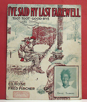 Black Americana Sheet Music - I've Said My Last Farewell - 1908