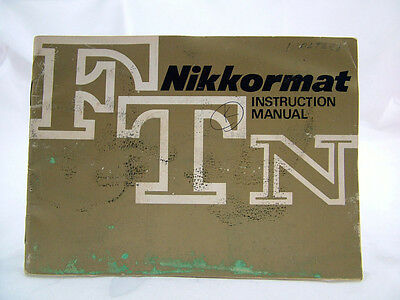 NIKON NIKKORMAT FTN CAMERA INSTRUCTION MANUAL 74