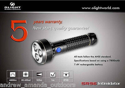 Olight SR96 Intimidator Search Light - 4800 Lumens w/Rechargeable battery pack