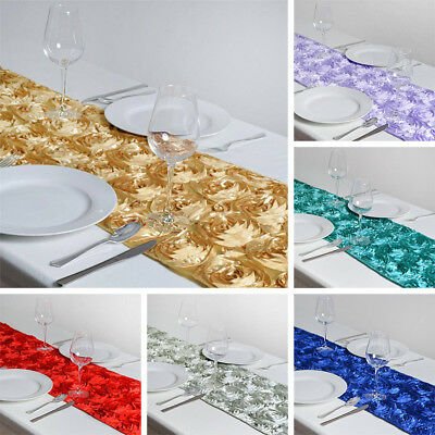 "20 Wholesale Lot RIBBON ROSES 14x108"" TABLE RUNNERS Wedding Party Decorations"