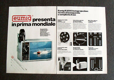 [GCG] L143- Advertising Pubblicità -1976- EUMIG R 2000 INSTAPROJECTION