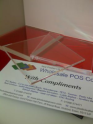 Square Clear Acrylic Cake Stand 5Mm Thick Perspex Wedding Cake Plate