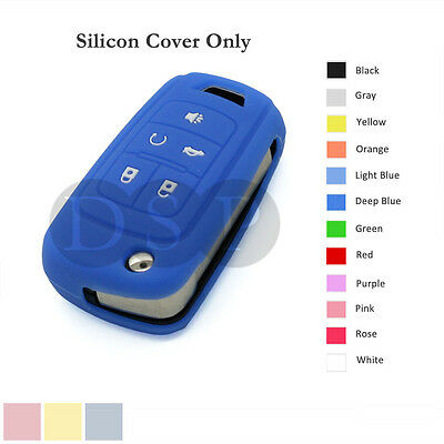 Silicone Cover Holder Jacket for CHEVROLET Flip Remote Key Case Shell 5 BTN DB