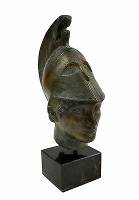 """Bronze artifact Warrior Pythis the Brave """"Pythis from Aigina"""" statue bust"""