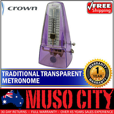 New Crown 'See-Through' Transparent Wind-Up Metronome