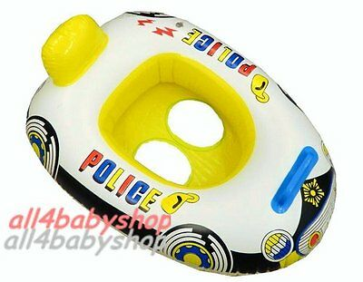Baby Kids Swimming Trainer Seat Safety Float Ring 1-3Y New Police Car 3 Colours
