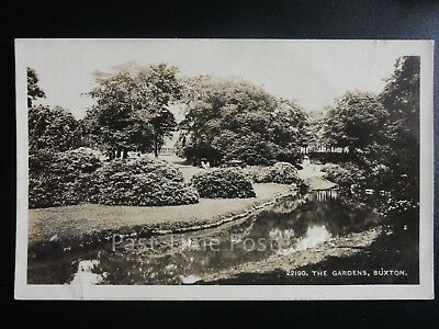Derbyshire: The Gardens, Buxton RP 1914 Old Postcard Pub by Boots Pure Drugs