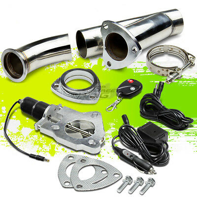 """2.5"""" Electric Exhaust Catback Cutout/e-Cut Out W/switch Valve System Kit+Remote"""