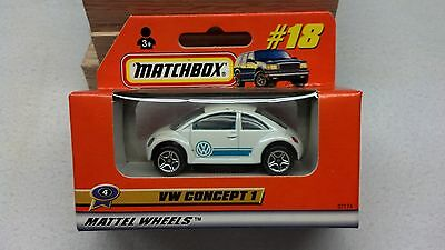 Matchbox 1999 #18 VW Concept 1 in ROW Rest of the World box - MINT!!