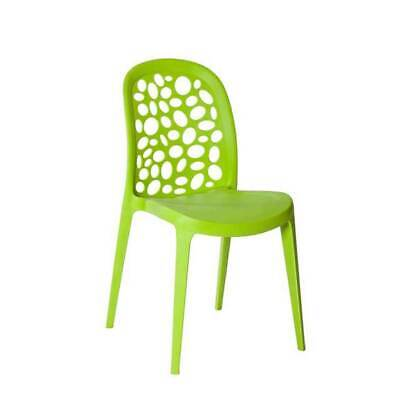 Outdoor CHAIR Stackable Restaurant Cafe Dining Chairs Replica Grace Green
