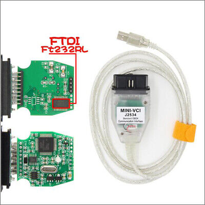 Newest MINI VCI J2534  for TOYOTA TIS Techstream Cable & Software v10.00.028