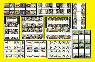2013 Commemorative Gutter Pair Issues of Great Britain in Full sets Mint nh