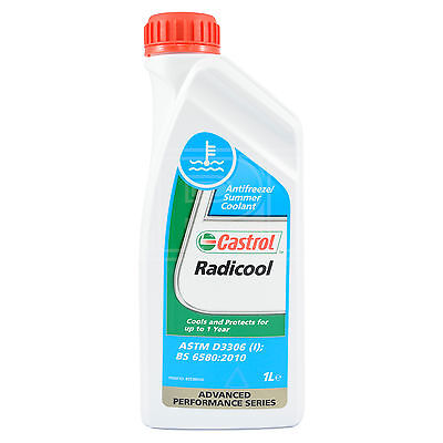 Castrol Radicool Antifreeze Concentrate Summer Coolant Anti Freeze 1 Litre 1L
