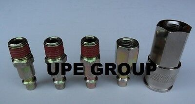 """5 Pack Steel 1/4"""" Air Quick Coupler Connector Disconnect Compressor Hose    Ad80"""