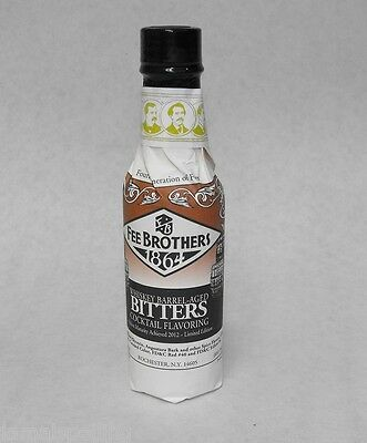 5 oz. Fee Bros WHISKEY BARREL  Aromatic BITTERS Cocktail Flavoring  *FREE SHIP*