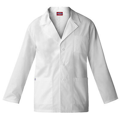 Dickies Women's White Lab Coat -84401-Eds Professional Consulation Sizes Xs -2Xl