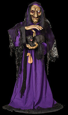 Animated Life Size Mathilda Wicked Witch Gipsy Halloween Prop Decoration