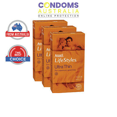 Ansell Lifestyles Ultra Thin Condoms (36 Condoms) TRIPLE PACK