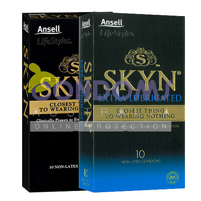 Ansell - Skyn Condoms Double Pack (10 Condoms) (Regular & Extra Lubricated)