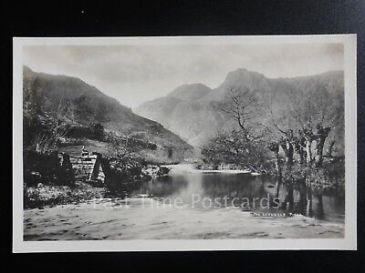 Cumbria: The Langdale Pikes from River RP Old Postcard - Lake District