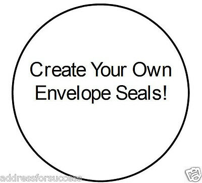 "63 Custom Made 1"" Round Envelope Seals Add Your Own Photo!"