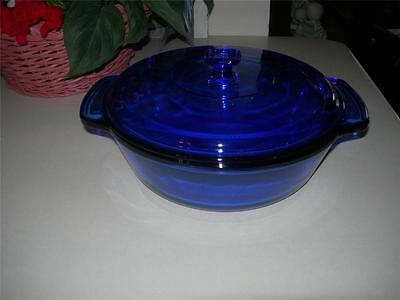 Collectible Cobalt Blue Anchor Hocking Ovenware 2 Qt Casserole