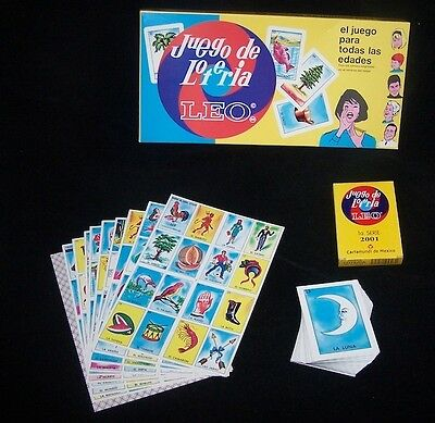 Mexican Bingo Traditional Loteria Game Set Fun Learn Spanish Cards Play
