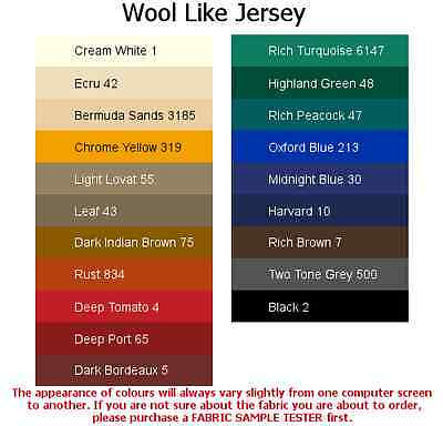 Wool Like /Jersey fabric-ITALIAN MADE in 12 colours, HIGH QUALITY