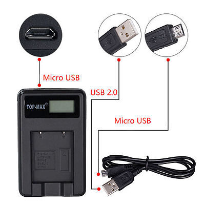 USB Battery Charger For Canon NB-10L PowerShot SX40 HS SX50 HS G1