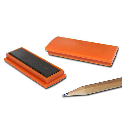 20 PINNWAND MAGNETE D30x8 MM ORANGE MEMOMAGNETE OFFICE SCHULE TAFEL WAND FERRIT