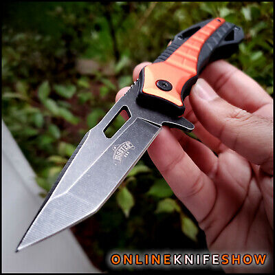 """8"""" M-TECH TACTICAL SPRING ASSISTED FOLDING KNIFE Blade pocket open Green New EDC"""