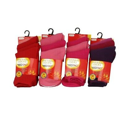 Girls 3 Pack Red Tag Thermal Socks Choose From Two Different Packs
