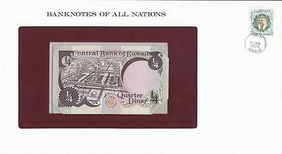 Banknotes of All Nations, Kuwait 1/4 Dinar, 1968, P11, Uncirculated